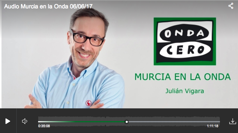 #FFpaciente en el programa «Murcia en la Onda» presentado por Julián Vigara